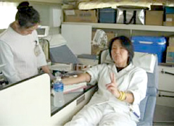 Blood Donation for The Japanese Red Cross Society
